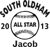 South Oldham All Star Car sticker