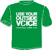 St Martha Use Your Outside Voice short sleeve Tshirt