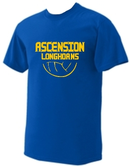 Ascension Volleyball short sleeve t shirt with volleyball design