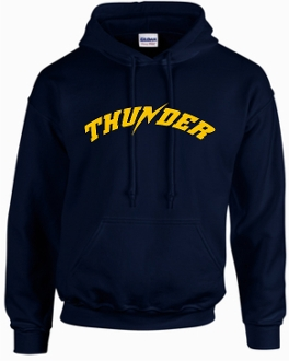 Thunder Baseball Hooded Sweatshirt