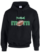 St Martha Football Mom Black Hoodie