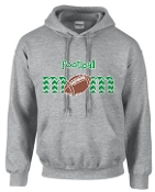 St Martha Football Mom Gray Hoodie