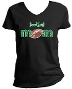 St Martha Football Mom Ladies Black V neck