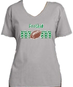 St Martha Football Mom Ladies Gray V neck