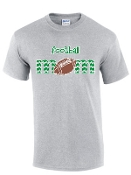 St Martha Football Mom Gray T shirt