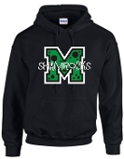 St Martha Shamrock M with polka dots Black Hoodie