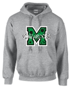 St Martha Shamrock M with polka dots Gray Hoodie