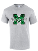 St Martha Shamrock M with polka dots Gray T shirt