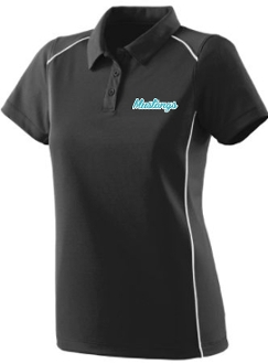 NOMS Mustangs Textured knit Ladies wicking polo Aug 5092