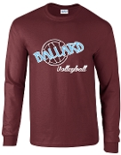 Ballard Volleyball spirit Long Sleeve T shirt with ball G2400