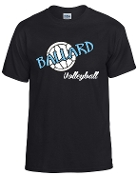 Ballard Volleyball spirit t shirt with ball G8000