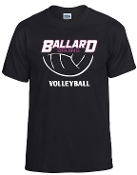 Ballard Volleyball Bruins Black t shirt G8000