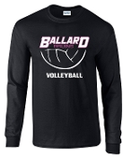 Ballard Volleyball spirit Bruins Long Sleeve T shirt  G2400