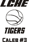 LCHE Tigers car decal with name and number