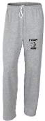 LCHE Tigers Sport Gray Open Bottom sweatpants G184