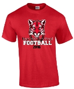 Noe Middle Football 50/50 blend Red T shirt G8000