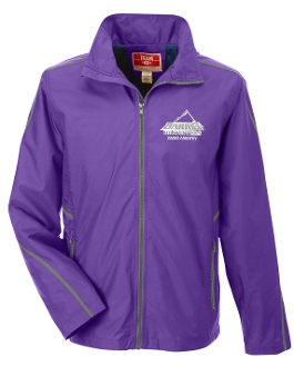 Barret CC embroidered Purple Water resistant hooded jacket