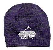 Barret CC Purple Charcoal embroidered beanie