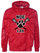 Noe Middle Lax Hooded Tie Dyed Red sweatshirt 854CY