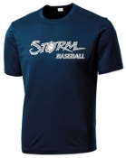 Louisville Storm Navy blue Moisture wicking Sport Tek ST350