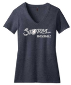 Louisville Storm Womens Navy V-neck 50/50 ring spun DM1190L
