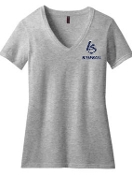 Louisville Storm Heather Gray Womens V-neck DM1190L