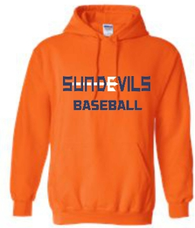 Sun Devils Baseball Orange Hooded sweatshirt G18500