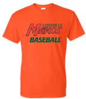 Louisville Makos Baseball Orange Moisture wicking T shirt ST 350