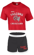 OCYFL Falcons Cheer pack shirt and shorts G8000/M037