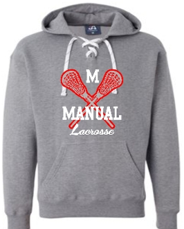 Manual Lacrosse Hooded sweatshirt with laces 21328