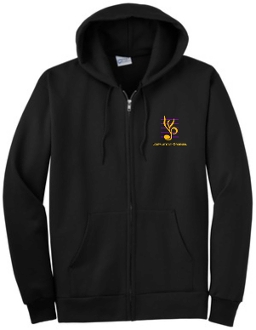 Louisville Youth Orchestra Black PC90ZH full zip Hoodie