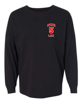 Noe Middle School Lacrosse Black Spirit Shirt 22328