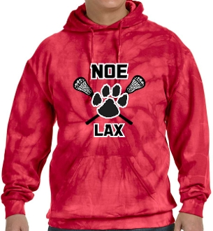 Noe Middle Lax Hooded Tie Dyed Red sweatshirt CD877