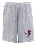 EO Patriot Badger 9 in Gray tricot mesh shorts with side pockets