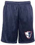 EO Patriot Badger 9 in Navy tricot mesh shorts with side pockets