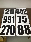 12x10 Number Panel Only