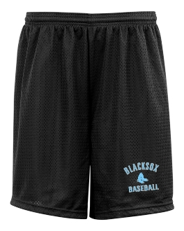 Blacksox Baseball Tricot mesh POCKETED 9 inch shorts