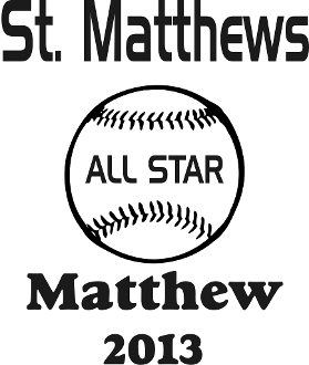 St Matthews All Star Car sticker