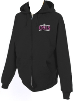 OSLS adult sized zippered hooded sweatshirt 993