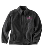 OSLS adult sized embroidered fleece full zip front M990