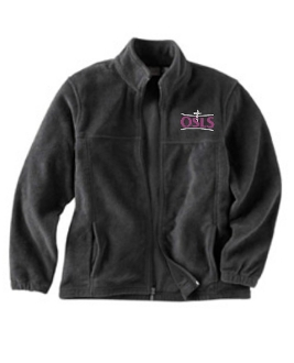 Alex R Kennedy embroidered fleece full zip front M990
