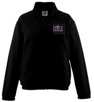 OSLS adult sized mens full zip embroidered fleece pullover 3540