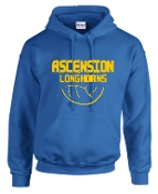 Ascension Volleyball Hoodie with volleyball design