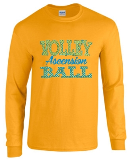 Ascension Volleyball long sleeve t shirt with Polka Dots design