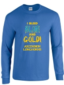 Ascension Spirit Bleed Blue Long Sleeve Tshirt