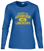 Ascension Spirit Property of WOMENS CUT Long Sleeve Tshirt