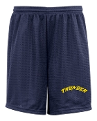 Thunder Baseball Badger 9 inch pocketed tricot mesh shorts