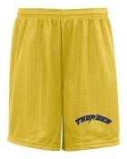 Thunder Baseball Badger Youth 7 inch tricot mesh shorts