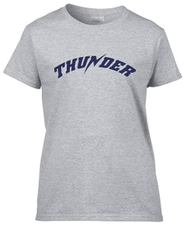 Thunder Baseball Womens Tshirt
