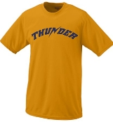 Thunder Baseball Moisture wicking Augusta T shirt